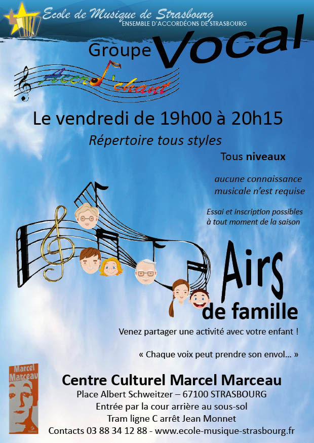 Groupe vocal Accro'Chant - Airs de famille